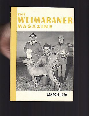 The Weimaraner Magazine, March 1969, Dog History