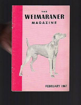 The Weimaraner Magazine, February 1967, Dog History