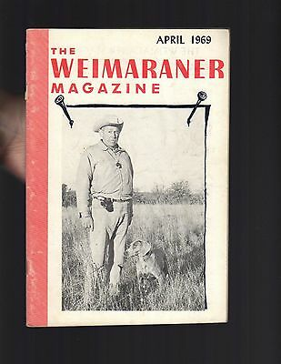 The Weimaraner Magazine, April 1969, Dog History
