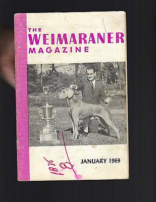 The Weimaraner Magazine, January 1969, Dog History