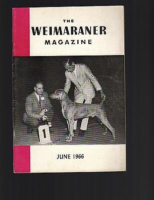 The Weimaraner Magazine, June 1966, Dog History