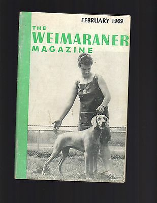 The Weimaraner Magazine, February 1969, Dog History