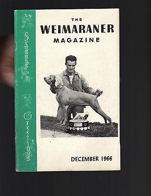 The Weimaraner Magazine, December 1966, Dog History