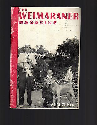 The Weimaraner Magazine, August 1968, Dog History