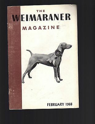 The Weimaraner Magazine, February 1968, Dog History