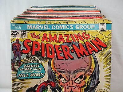 Lot Of 50 Bronze Age MARVEL Comics Spider-Man Daredevil Fantastic Four Iron Man