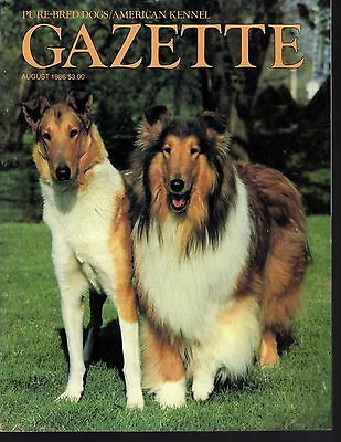 AKC American Kennel Gazette August 1986, Chow Chow, Rough Smooth Collie