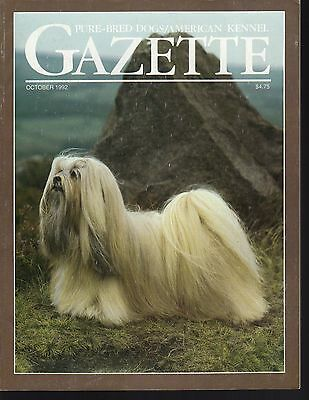 AKC American Kennel Gazette October 1992, Silky Terrier National, Lhasa Apso