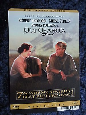 OUT OF AFRICA backer card MERYL STREEP, ROBERT REDFORD - this is NOT a movie