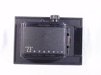 Graflex Graphic 23 6x9 8 Exp.120 Film Back For 4x5 Crown/Speed Cameras