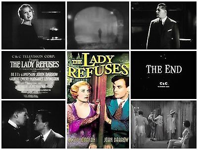 16mm Feature Film: THE LADY REFUSES (1931) Betty Compson - C&C TV Print