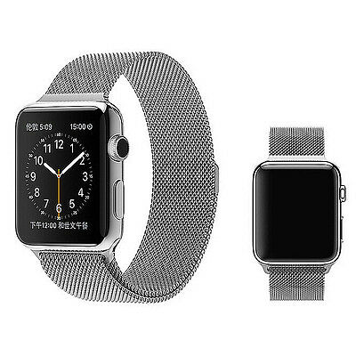 Milanese Magnetic Loop Stainless Steel Strap Watch Bands For Apple Watch 42MM