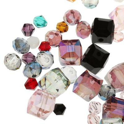 100 Crystal Bead Charm Glass Beads Loose Spacer Bead for DIY Jewelry Making