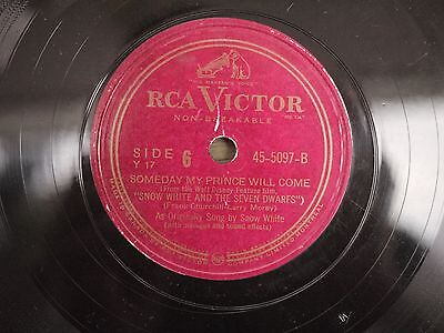 SNOW WHITE & THE SEVEN DWARFS Someday My Prince Will Come RCA Victor Y17 1949