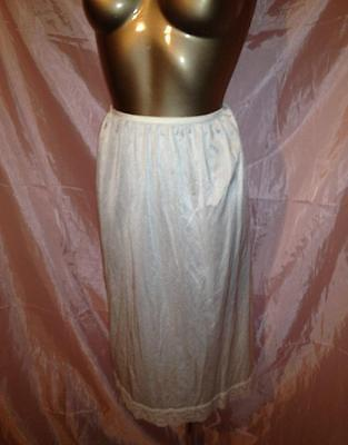 New Marks & Spencer Cream Slip Underskirt Silky Soft With Lace Size 12-14 Uk