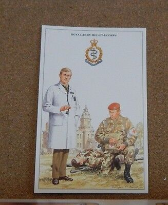 Military Uniforms Postcard the Royal army Medical Corps  unposted