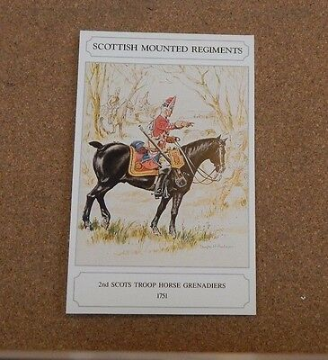 Military Uniforms Postcard 2nd Scots Troop Horse Grenadiers  Unposted