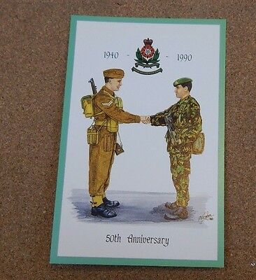 Military Uniforms Postcard The Intelligence Corps 50th Anniversary  unposted