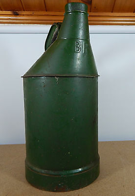 large locomotive British Rail Oil Can Wooden bung Green finish 42cm tall