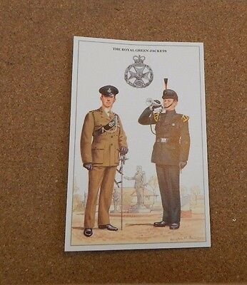 Military Uniforms Postcard The Royal Greenjackets  unposted