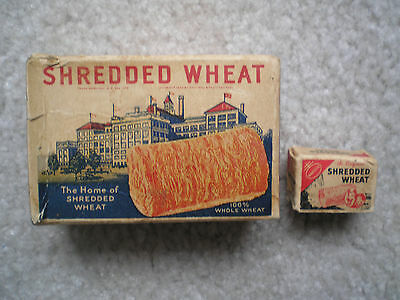 2 Nabisco Shredded Wheat Cereal Boxes 1932 Rin-Tin-Tin & Rusty
