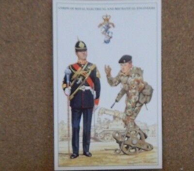 Military Uniforms Postcard Corps Of Royal Mechanical & Electrical Engineers.