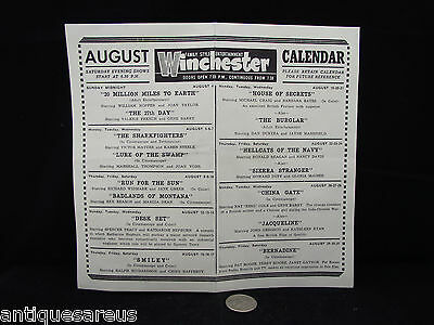Winchester ( Ontario ? ) Aug 19-20-21 Paybill Hellcats Of The Navy Ronald Regan
