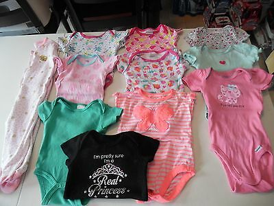 Girl's Size 3-6 Months Mixed Lot Of 11  Pcs.
