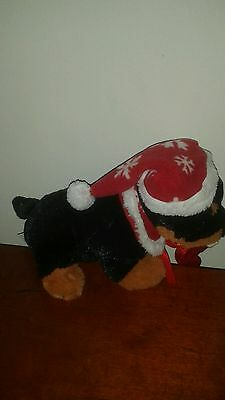 Christmas Dog With Santa  Hat Stuff Animal