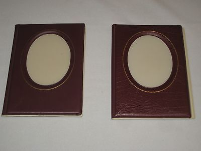 """PHOTO ALBUMS Set of 2 small  4"""" x 6"""" Pictures holds 24 NOS"""