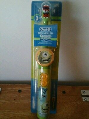 Disney's Monsters, Inc. Oral-B Pro-Health Stages Power Kids Toothbrush Ages 3+