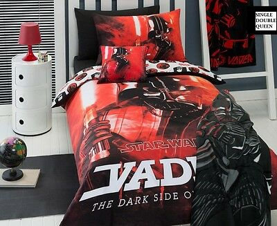 Star Wars Darth Vader Dark Side of the Force Quilt Cover Single, Double, Queen