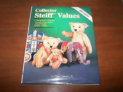 Collector Steiff Values by Peter Consalvi, Sr 1980-1990 Complete Guide EXC