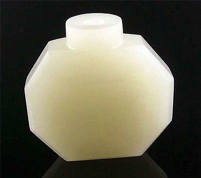 Antique Old Chinese Celadon Nephrite Jade Carved Snuff Bottle 18/19th Century