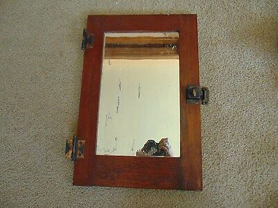 Antique Wooden Wall Medicine Cabinet w Mirror, Door Only Mission Style Built-in