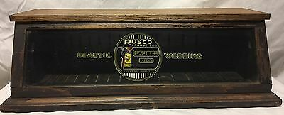 Vintage Rusco Products Elastic Country General Store Advertising Display Cabinet