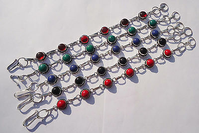 Amazing Bracelets Jewelry Mix Gemstone 5Pcs 925 Sterling Silver Overlay