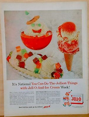 1959 magazine ad for Jell-O gelatin - Jolly things to do with Jell-O