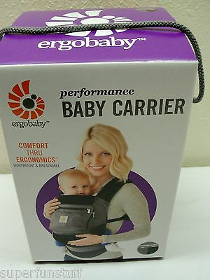 ERGOBABY BABY PERFORMANCE CARRIER Charcoal/BLACK 3 Position NEW
