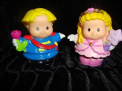 Lot Of Two - Fisher Price Little People - Prince And Princess