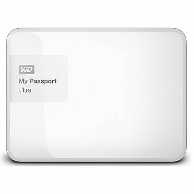 "Western Digital WD My Passport Ultra 1TB 2.5"" Portable External Hard Drive White"