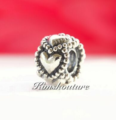 Authentic Pandora Sterling Silver Everlasting Love Charm 790448