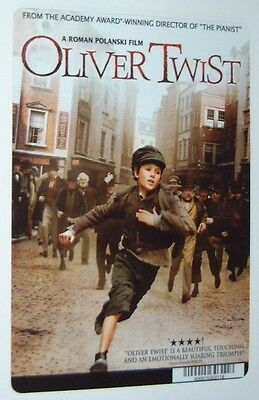 OLIVER TWIST movie backer card ROMAN POLANSKI - this is NOT a movie