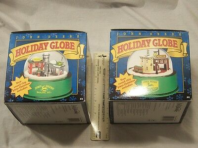 (2) John Deere Holiday Musical  Globes-1998 # 3 & 1999 # 4-No reserve