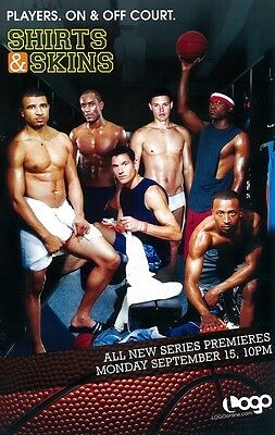 Shirts & Skins poster Gay Sports tv - 11 x 17 inches - original promo poster