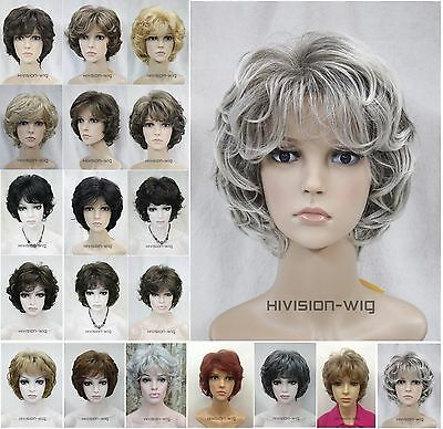 19 Colour Short Curly Women Ladies Daily Hair wig Hivision AF#L-427B