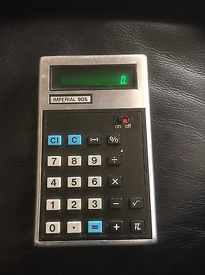 Vintage calculator imperial 90s With Case