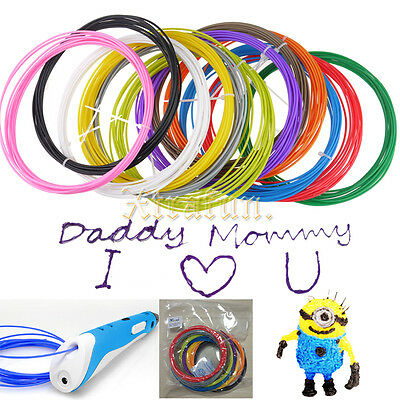 1.75mm 12 Colours ABS Linear Crafting Drawing Printing 3D Printer Pen Filament