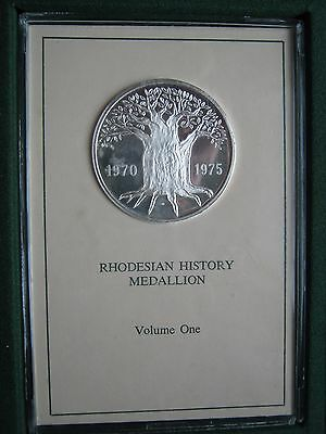 Rhodesian History Silver Medallion Volume I Matthews Manufacturing COA cased box
