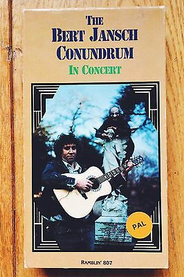 Rare The Bert Jansch Conundrum In Concert 1991 VHS Video